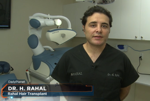 A picture of Dr. Rahal on Discovery Channel.