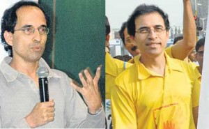 Harsha Bhogle before & after his hair transplant