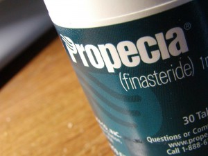Picture of a bottle of Propecia.